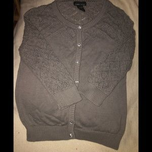 LIKE NEW Slate gray button down sweater